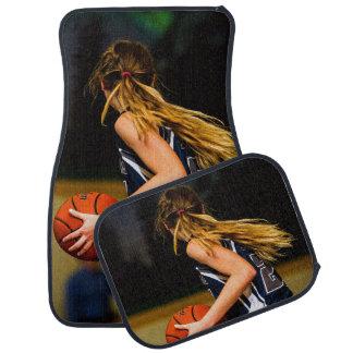 Ensemble femelle de joueur de basket de 4 tapis de