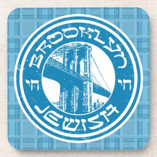 Ensemble juif de dessous de verre de Brooklyn New