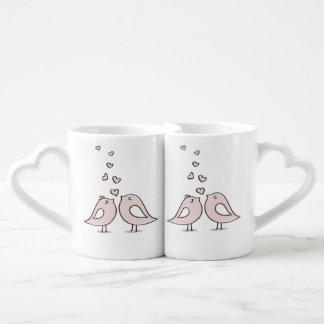 ensemble mignon de tasse de café de couples