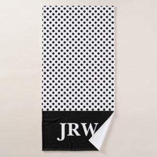 Ensemble noir et blanc de serviette de Bath de