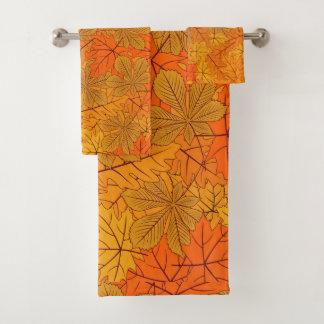Ensemble orange de serviette de Bath de conception