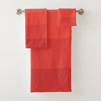 Ensemble orange de serviette de Bath d'Ombre