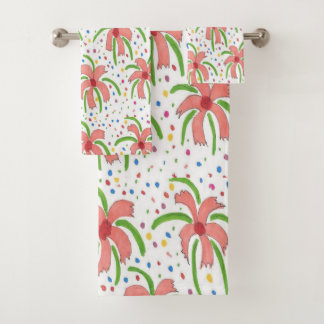 Ensemble tropical de serviette de Bath de fleurs