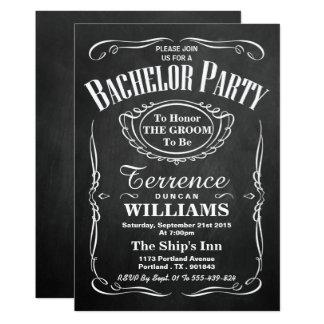 Enterrement de vie de jeune garçon à la mode de carton d'invitation  12,7 cm x 17,78 cm