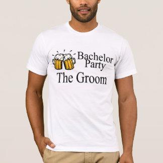 Enterrement de vie de jeune garçon la bière de t-shirt