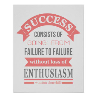 Enthousiasme d'échec de succès de citation de Wins