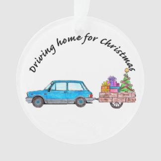 Entraînement à la maison pour la voiture de Noël