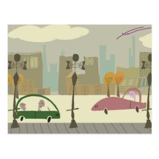 Entraînement dans la ville cartes postales
