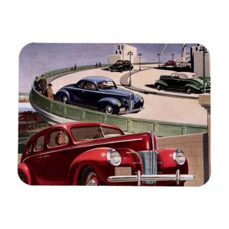 Entraînement de voitures classique vintage de magnet en rectangle
