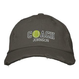 Entraîneur de tennis chapeau brodé