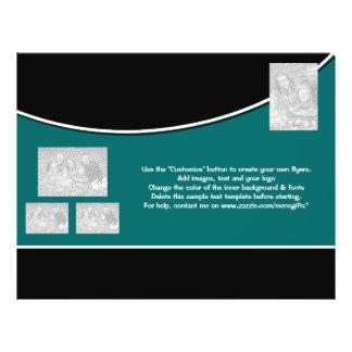Entreprise bleue blanche de noir de modèle d'insec prospectus 21,6 cm x 24,94 cm
