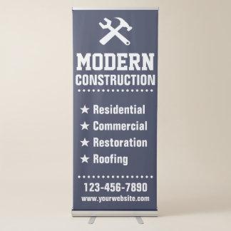 Entreprise de construction de l'agent immobilier | banderole rétractable