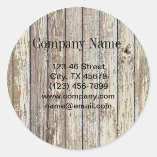 entreprise de construction en bois de grain de sticker rond