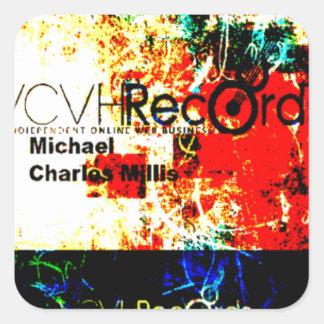 entreprise de disques du feature_graphics 1,5 VCVH Sticker Carré