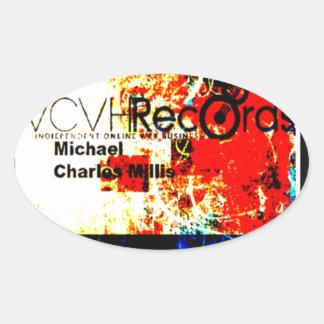 entreprise de disques du feature_graphics 1,5 VCVH Sticker Ovale