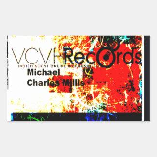 entreprise de disques du feature_graphics 1,5 VCVH Sticker Rectangulaire