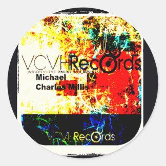 entreprise de disques du feature_graphics 1,5 VCVH Sticker Rond