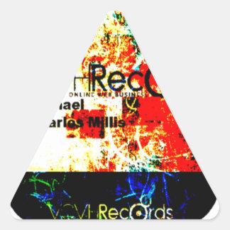 entreprise de disques du feature_graphics 1,5 VCVH Sticker Triangulaire