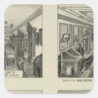 Entreprises et résidences, Abilene, le Kansas Sticker Carré