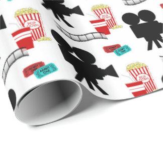 Enveloppe carrelée par partie d'amants de film papier cadeau noël