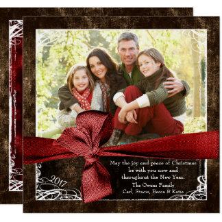 Enveloppé dans des cartes de Noël de photo d'amour