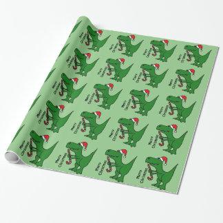 Enveloppe de cadeau drôle de Noël de dinosaure de Papiers Cadeaux Noël
