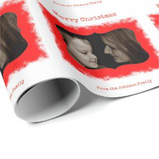 Enveloppe de cadeau personnalisée rouge de photo papier cadeau