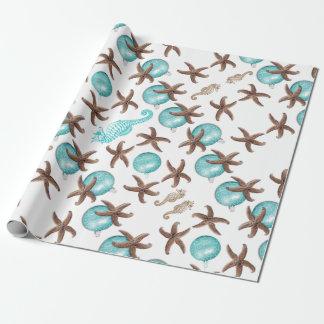 Enveloppe de cadeau tropicale de Noël de motif de Papier Cadeau
