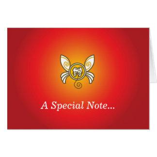 Envoyez une note spéciale de la fée de dent ! carte