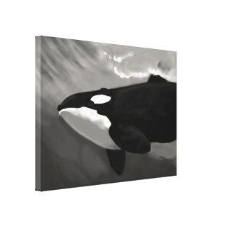 épaulard noir et blanc toiles