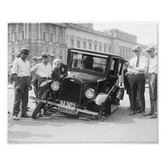 Épave cassée noire et blanche vintage Etats-Unis 1 Tirage Photo