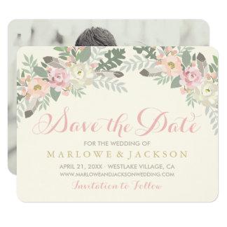 Épousant des économies le ressort Boho de la carte Carton D'invitation 10,79 Cm X 13,97 Cm