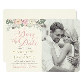 Épousant des économies le ressort Boho de la carte Carton D'invitation 12,7 Cm X 17,78 Cm