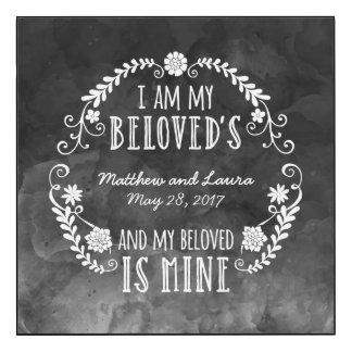 Épousant l'aquarelle noire, je suis mon aimé
