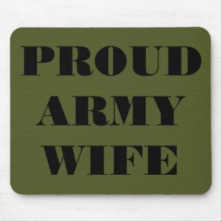 Épouse fière d'armée de Mousepad Tapis De Souris