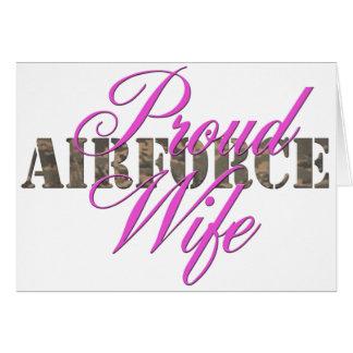 épouse fière de l'Armée de l'Air Carte