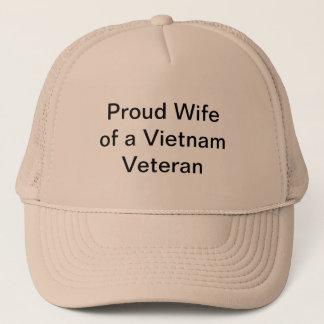 Épouse fière d'un vétéran du Vietnam Casquette