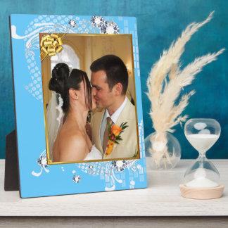 Épouser avec des diamants ajoutent la plaque de impression sur plaque