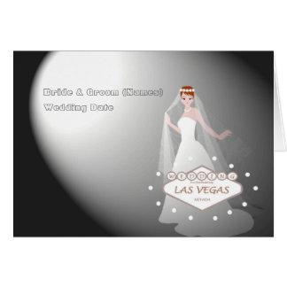 """Épouser dans la voiture fabuleuse de """"jeune mariée carte de vœux"""