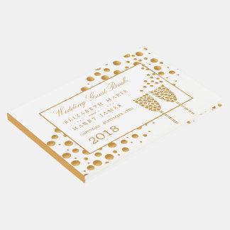 Épouser de bulles de Champagne d'or Livre D'or