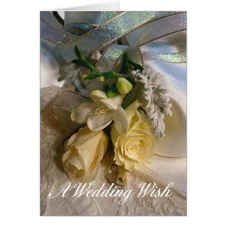 Épouser la carte de voeux de souhait