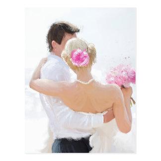 Épousez nouvellement les couples carte postale