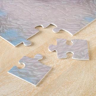 Épouvantail dans le puzzle de neige