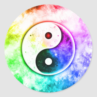 Équilibre universel sticker rond