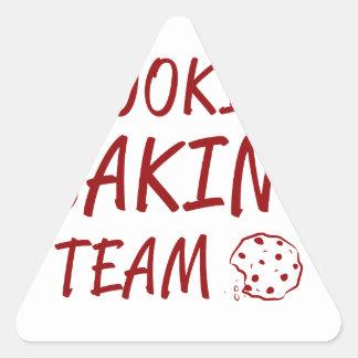 Équipe 2 de cuisson de biscuit sticker triangulaire