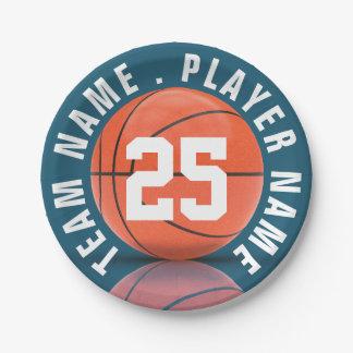 Équipe de basket assiettes en papier