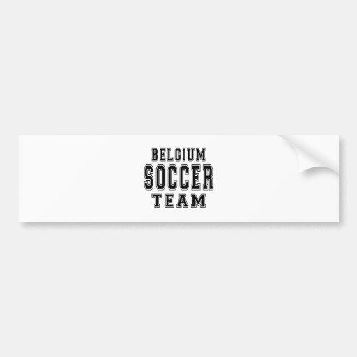 Équipe de football de la Belgique Adhésif Pour Voiture