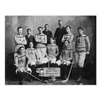 Équipe de hockey de shamrock, Montréal, ` 1899 de Carte Postale