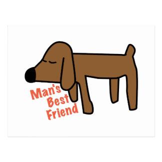 Équipe le meilleur ami cartes postales