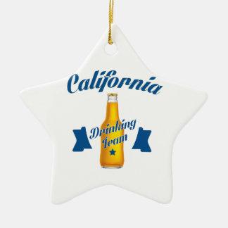 Équipe potable de la Californie Ornement Étoile En Céramique